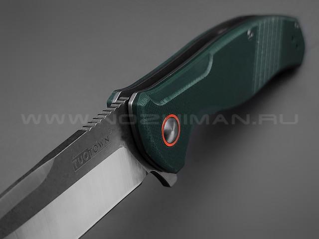 TuoTown нож JJ047-CG сталь D2, рукоять G10 hunter green