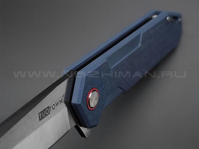 TuoTown нож JJ049-GB сталь D2, рукоять G10 Jeans blue