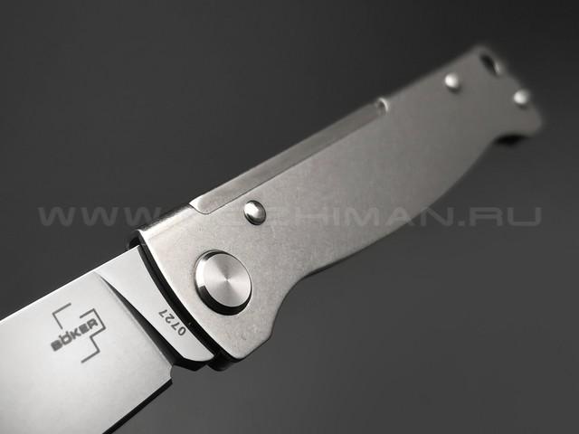 Нож Boker Plus Atlas SW 01BO856 сталь 12С27, рукоять Stainless steel