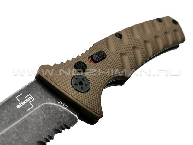 Нож Boker Plus Strike Coyote Tanto 01BO425, сталь Aus 8, рукоять Aluminum 6061