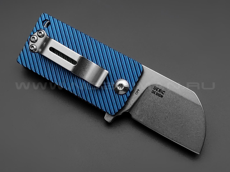 Нож Fox B.key BF-750 BL сталь 440A, рукоять Aluminium Blue