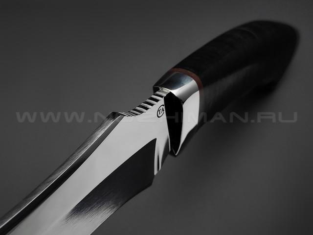"""Нож """"Бизон"""" сталь 95Х18, рукоять наборная кожа (Титов & Солдатова)"""