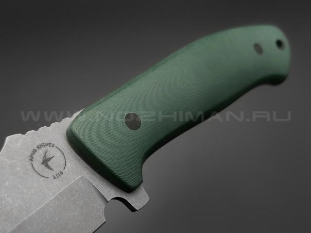 Apus Knives нож Marauder сталь K110, рукоять G10 hunter green