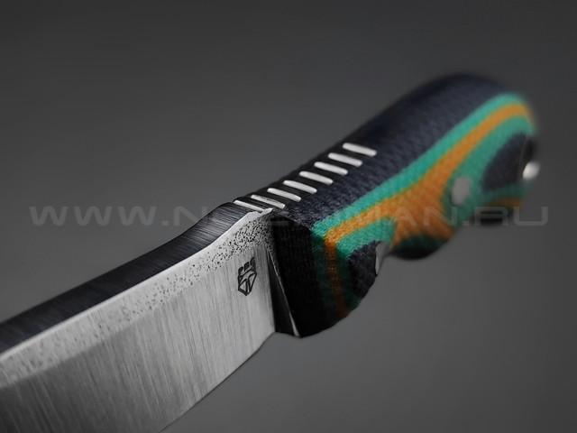 РВС нож Двояк сталь N690, рукоять микарта (yellow, green, navy)