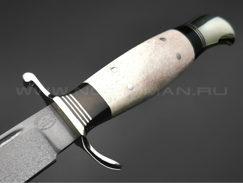 """Нож """"Финка НКВД"""" булатная сталь, рукоять рог лося, мельхиор (Товарищество Завьялова)"""