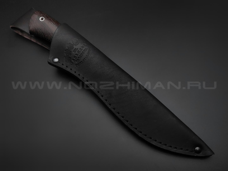 """Нож """"Акула"""" сталь 95Х18, рукоять дерево венге, мельхиор (Товарищество Завьялова)"""