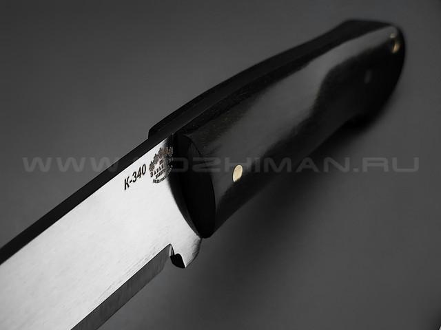 "Нож ""Бригадир"" сталь K340, рукоять дерево граб (Товарищество Завьялова)"