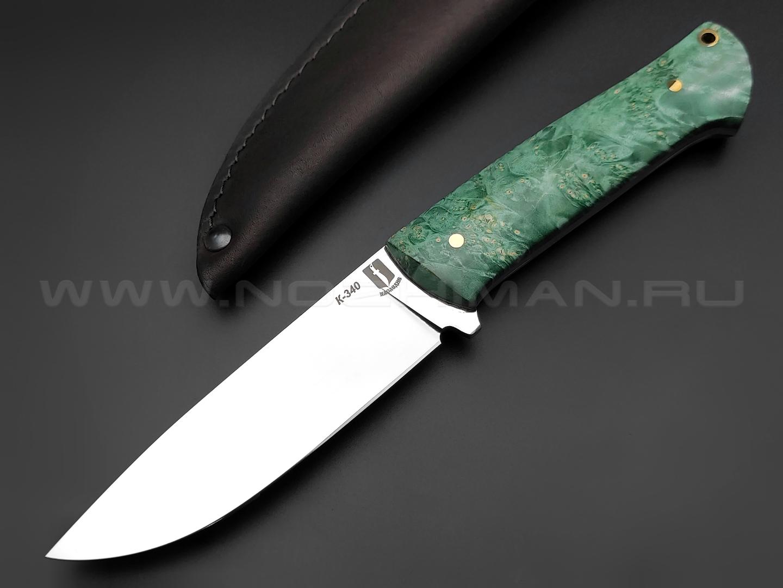 "Нож ""Бригадир"" сталь K340, рукоять кап клёна (Наследие)"