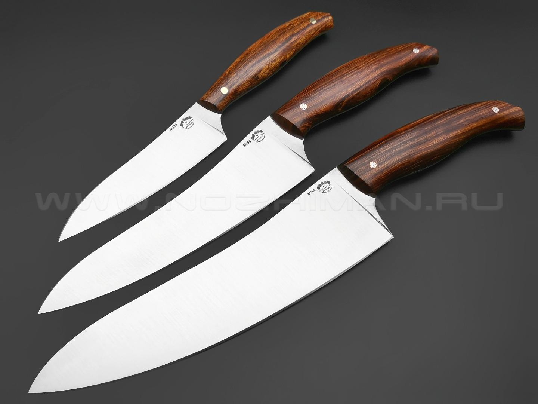 Набор из 3-х кухонных ножей, сталь M390, рукоять Айронвуд (Товарищество Завьялова)