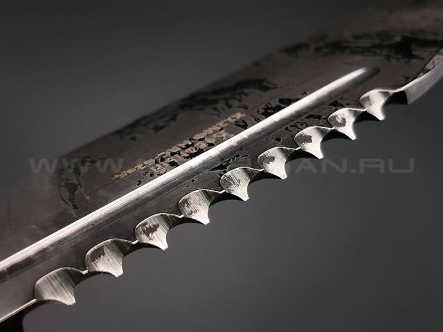 """Нож """"Рэкс"""" сталь Х12МФ, рукоять дерево граб, мельхиор (Фурсач А. А.)"""