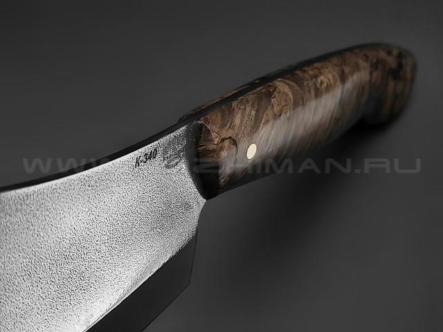 """Нож """"Биг Фуд"""" сталь K340, рукоять берёзовый сувель (Товарищество Завьялова)"""