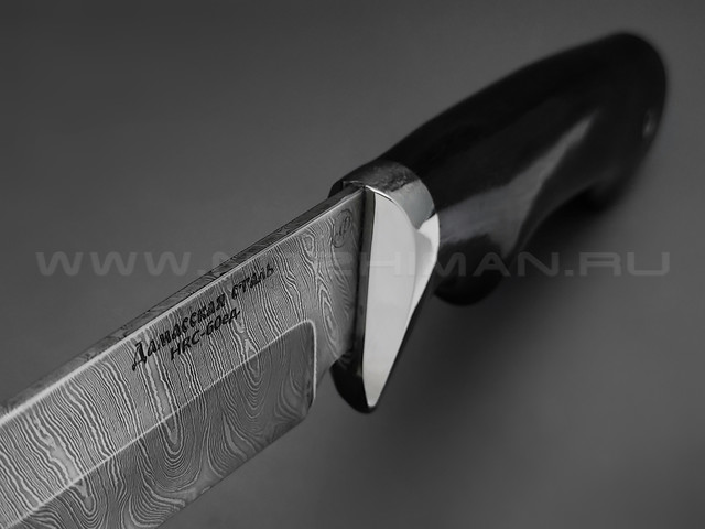 "Нож ""Газель"" дамасская сталь, рукоять дерево граб, мельхиор (Фурсач А. А.)"