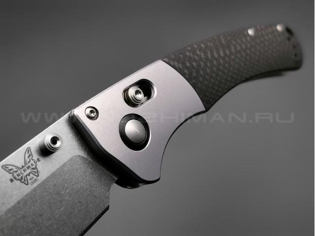 Нож Benchmade Custom Crooked River CU15080-SS-20CV сталь CPM-20CV, рукоять Carbon fiber