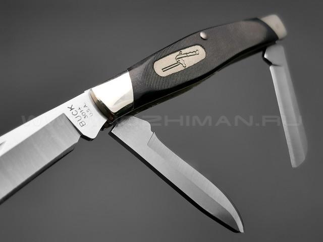 Нож Buck 301 Stockman 0301BKS сталь 420HC, рукоять Black Valox, нейзильбер