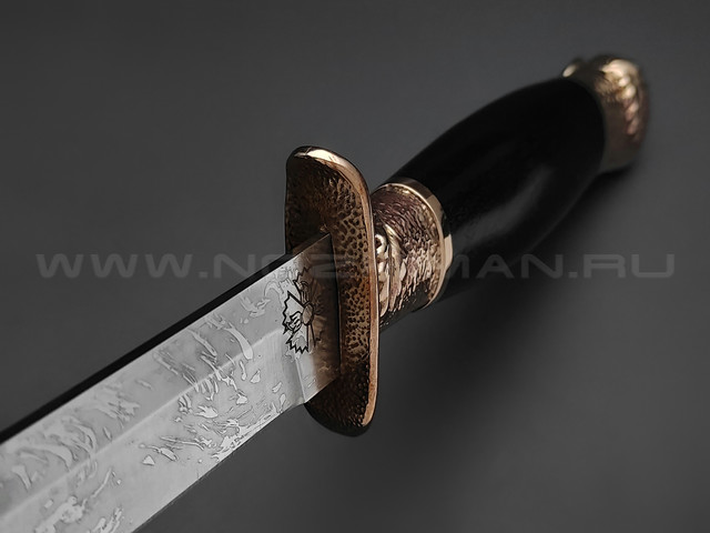 "Нож разведчика ""НР-40"" сталь Х12МФ, рукоять дерево граб, бронза (Фурсач А. А.)"