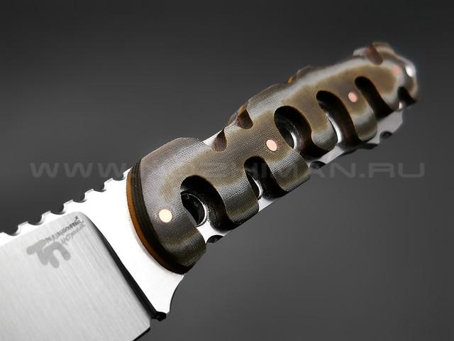 """1-й Цех нож """"ТП"""" сталь 440C, рукоять микарта"""