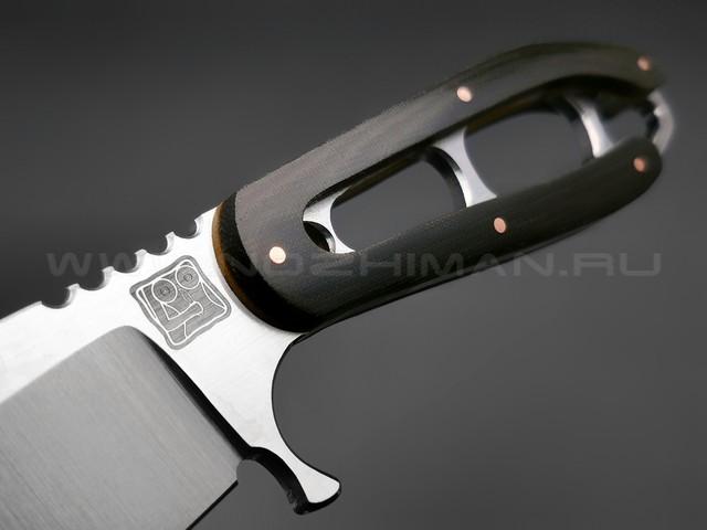 "1-й Цех нож ""Сиськи"" сталь 440C, рукоять микарта"
