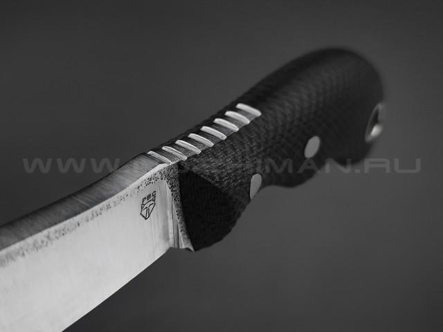 РВС нож Двояк сталь N690, рукоять микарта black