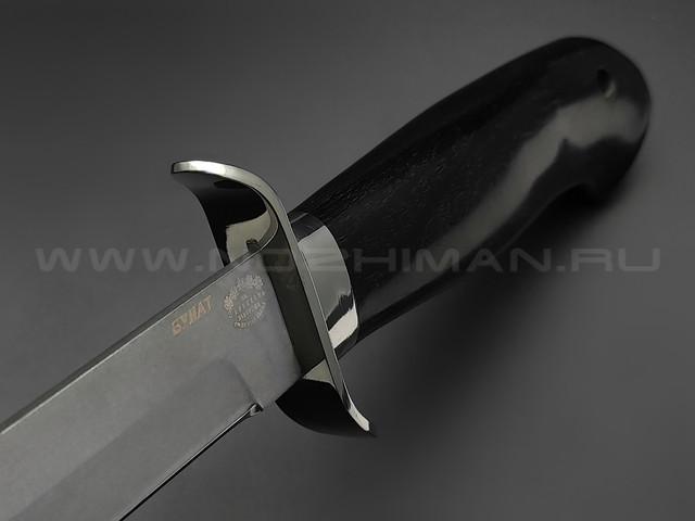 """Нож разведчика """"НР-40"""" булатная сталь, рукоять дерево граб, мельхиор (Товарищество Завьялова)"""
