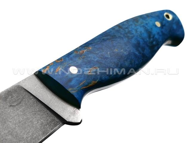 """Нож """"Волжский"""" булатная сталь, рукоять карельская берёза (Товарищество Завьялова)"""