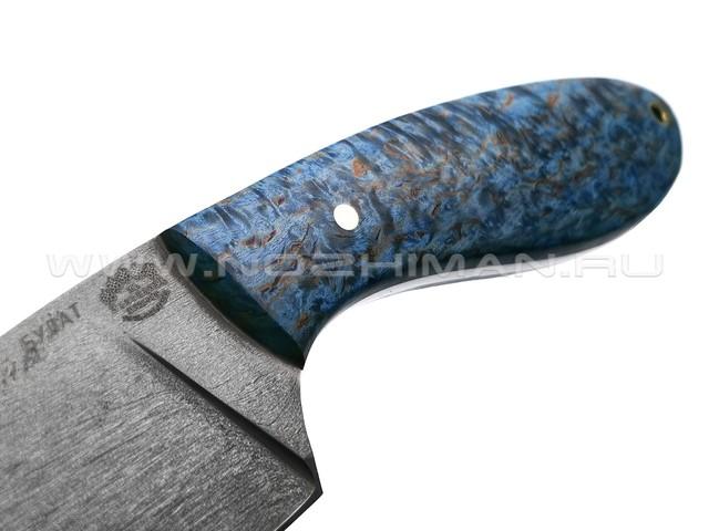"""Нож """"Боровик"""" булатная сталь, рукоять карельская берёза (Товарищество Завьялова)"""