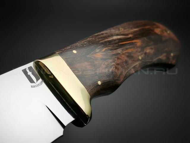 """Нож """"Аврора-2"""" сталь Vanadis 10, рукоять карельская береза, латунь (Мастерская Наследие)"""