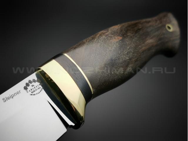 """Нож """"Фидель"""" сталь Sleipner, рукоять стабилизированное дерево (Товарищество Завьялова)"""