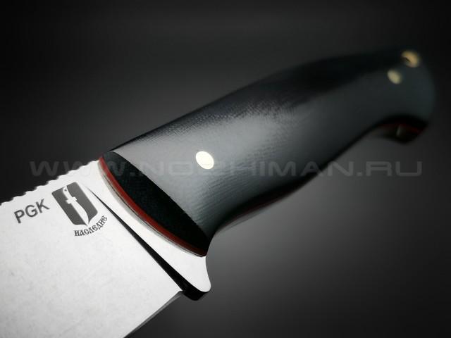 """Нож """"Граф Шереметьев"""" сталь PGK, рукоять G10 black (Мастерская Наследие)"""