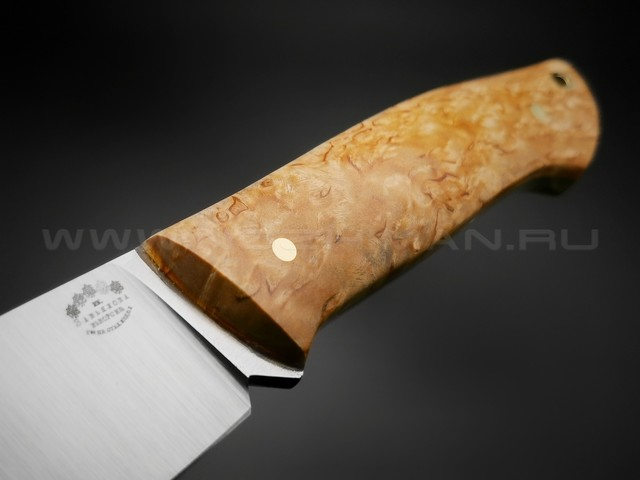 """Нож """"Крейсер"""" сталь M390, рукоять карельская береза (Товарищество Завьялова)"""